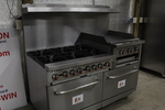"60"" Gas Range w/ double ovens, raised griddle / broiler - Beautiful New Piece"
