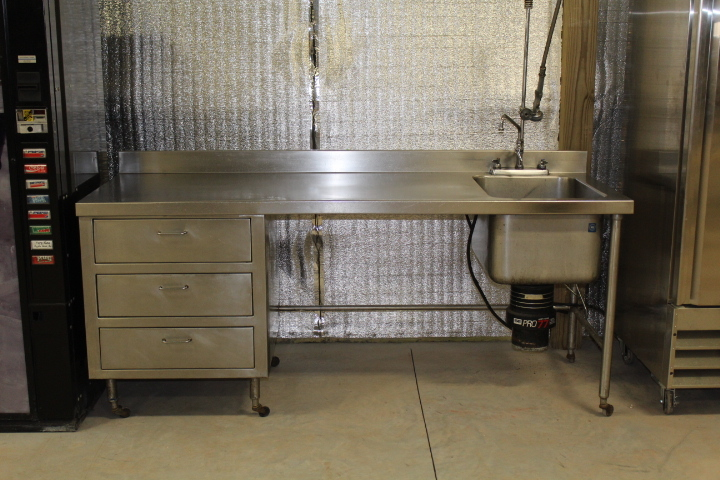 Stainless Steel Dishwasher Table Cafe Rice Auctions - Stainless steel dishwasher table