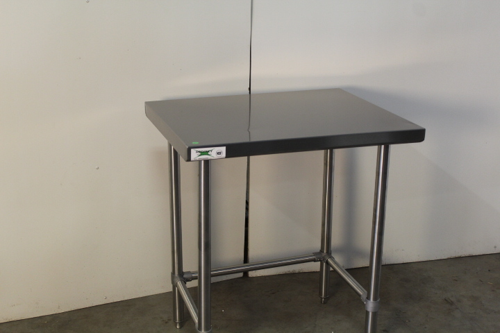 Stainless Steel Open Base Work Table New Restaurant Bakery - Stainless steel open base work table