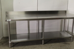 Stainless Steel Work Table with Back Splash - NEW