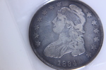 1-  1834 CAPPED BUST HALF DOLLAR
