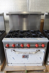 6 burner range with oven
