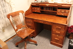 Beautiful  Roll Top Desk & Chair lot