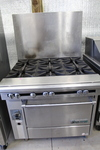 6 burner range with Convection Oven