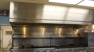 Exhaust Hood w/ Rear wall Make-up Air Plenum Included