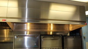 Stainless Steel EXHAUST HOOD w/ Rear WAll return air plenum