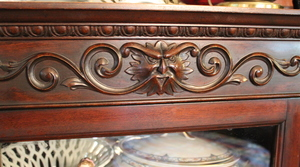 Beautiful Claw Foot China Cabinet               (kitchen)